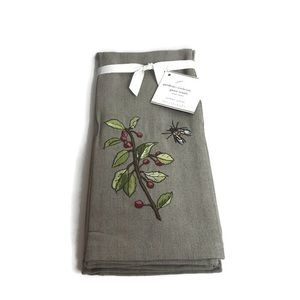 Pottery Barn Gardener Embroidered Guest Towels NEW
